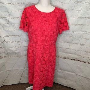 Talbots beautiful lace style cut out dress
